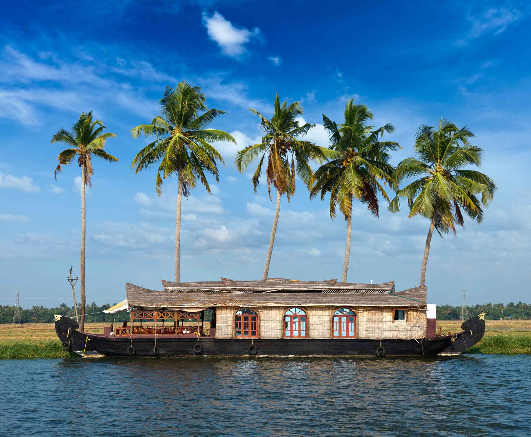 Backwaters and Houseboats in Kerala, India
